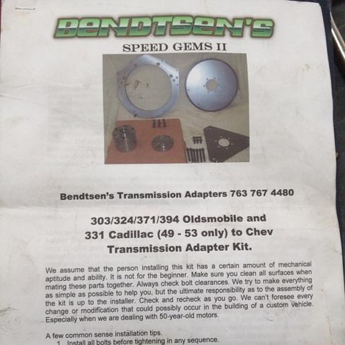 Bendtsens Transmission Adapter Oldsmobile