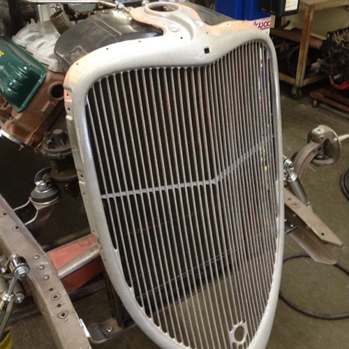 1933 Ford grille sectioned
